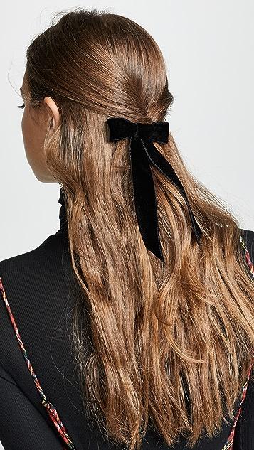 Jennifer Behr Заколка для волос с бархатным бантом
