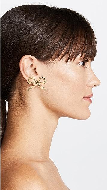 Jennifer Behr Bow Stud Earrings
