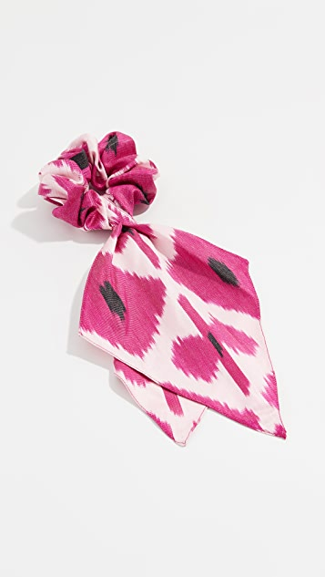 Ikat Scrunchie Scarf by Jennifer Behr