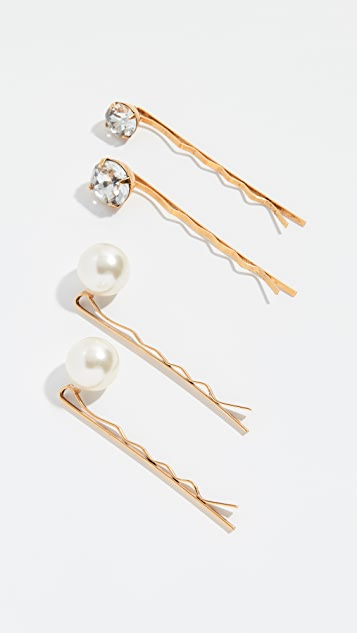 Jennifer Behr Gigi Bobby Pins set of 4