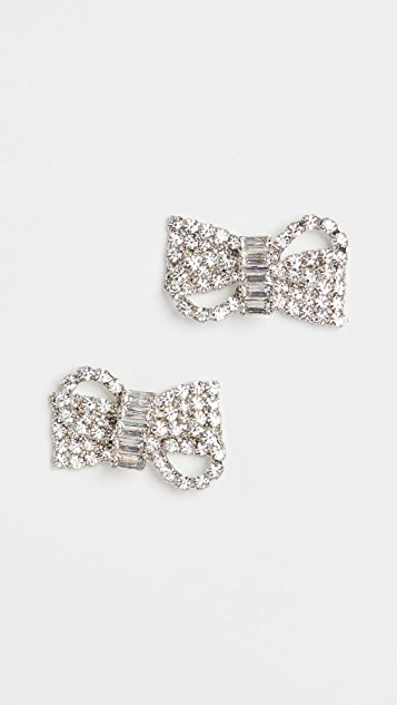 Jennifer Behr Crystal Bow Stud Earrings