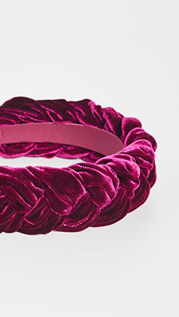 Jennifer Behr Velvet Lorelei Headband