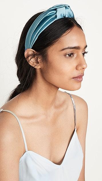 Jennifer Behr Samaya Headband In Hammered Silk