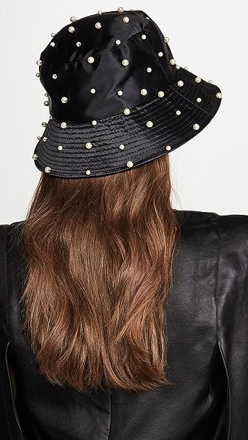 Jennifer Behr Mallorie Pearled Bucket Hat