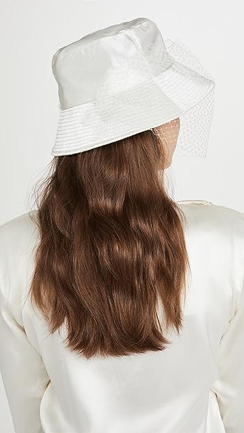 Jennifer Behr Elaine Veiled Bucket Hat