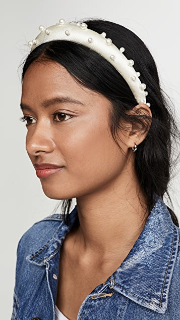 Jennifer Behr Sascha Headband In Hammered Silk