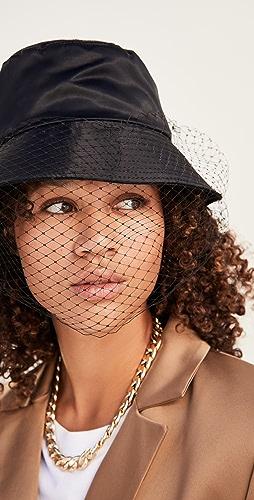 Jennifer Behr - Elaine Veiled Bucket Hat