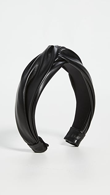 Jennifer Behr Twist Headband in Vegan Leather