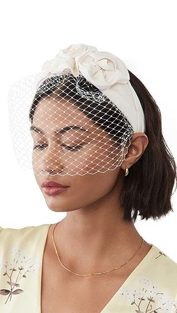Jennifer Behr Triple Rosette Voilette Headband