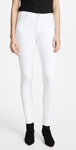 J Brand - Maria 高腰贴腿裤牛仔裤