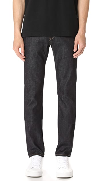 J Brand Kane Raw 11.5oz Slim Straight Jeans