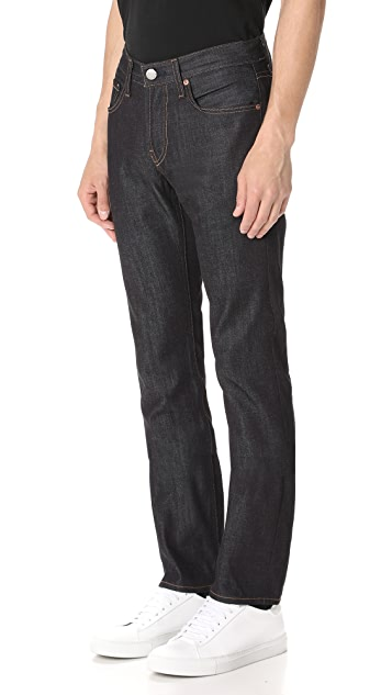 J Brand Kane Raw 11.5oz Slim Straight Jeans