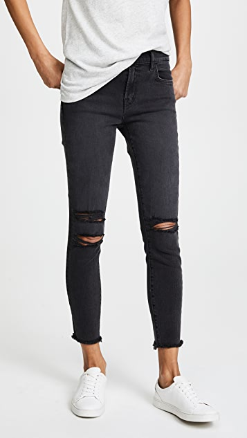 J Brand Photo Ready Cropped Mid Rise Skinny Jeans - Mercy