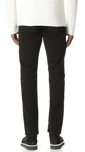 J Brand Kane Slim Straight Garment Dye Jeans