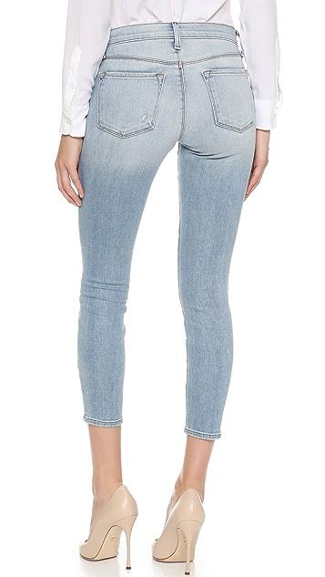 J Brand Low Rise Crop Skinny Jeans