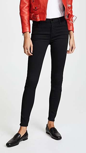 J Brand 620 Super Skinny Jeans - Seriously Black