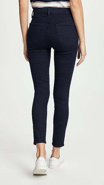 J Brand Укороченные джинсы Alana с высокой посадкой