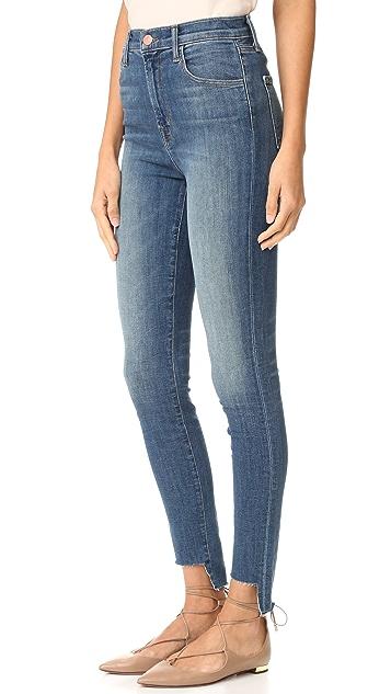 J Brand Carolina High Rise Step Hem Jeans