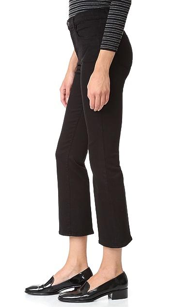 J Brand Helena High Rise Crop Boot Jeans