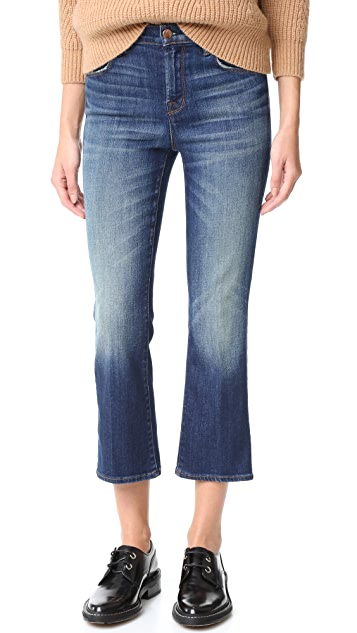 J Brand Helena High Rise Crop Boot Jeans