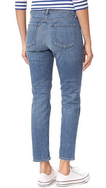 J Brand Johnny Mid Rise Boy Fit Jeans