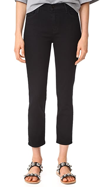 J Brand Ruby High Rise Crop Jeans