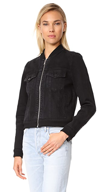 J Brand Harlow Bomber Jacket