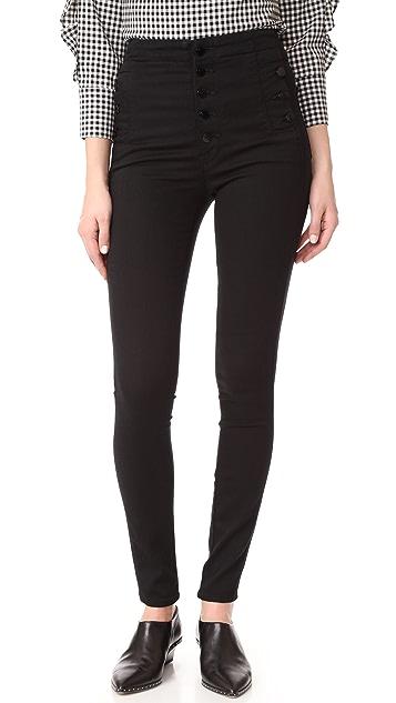 J Brand Natasha Sky Skinny Jeans - Seriously Black
