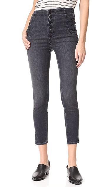J Brand Natasha Cropped Sky High Skinny Jeans
