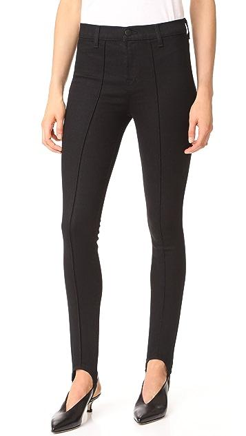 J Brand Maria Pintuck Stirrup Jeans
