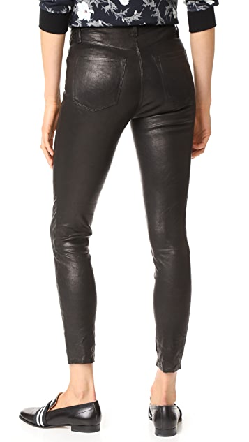 J Brand High Rise Alana Crop Leather Pants