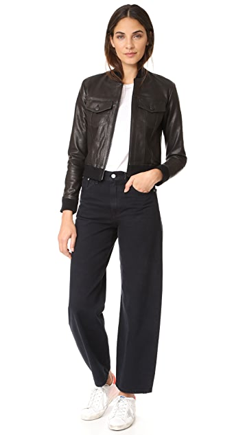 J Brand Harlow Leather Jacket