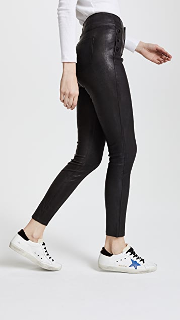 J Brand Natasha Leather Pants
