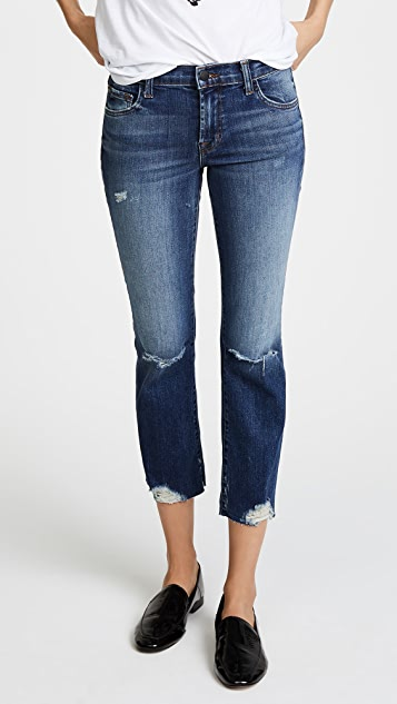 J Brand Selena Mid Rise Crop Boot Jeans