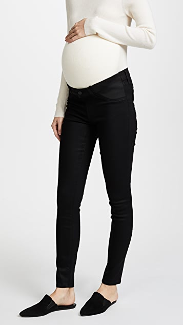 J Brand Mama J Super Skinny Maternity Jeans - Black Stocking