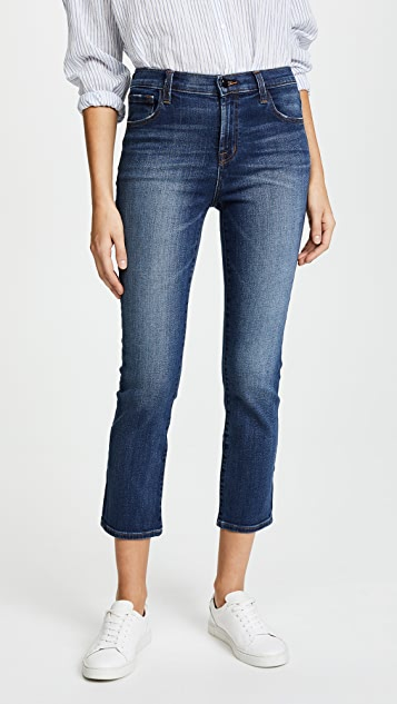 J Brand Ruby High Rise Crop Jeans - Decoy