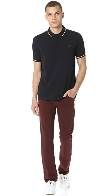 J Brand Kane Straight Fit French Terry Jeans