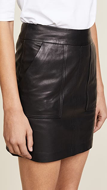 J Brand Patti Leather Skirt