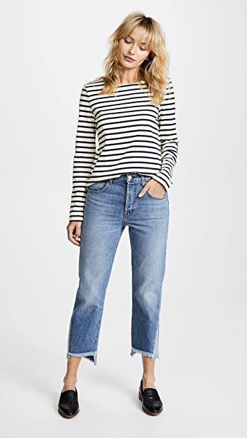J Brand Wynne Crop Straight Jeans