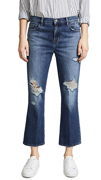 J Brand Aubrie High Rise Boot Cut Jeans