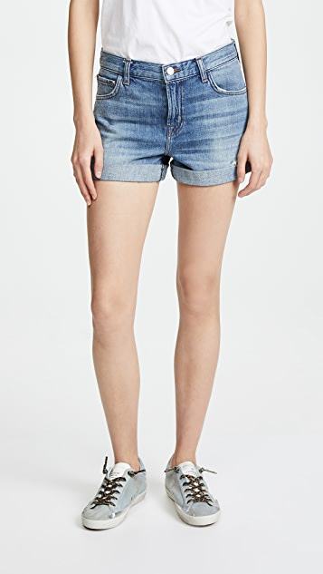 Johnny Mid Rise Shorts by J Brand