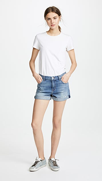 J Brand Johnny Mid Rise Shorts