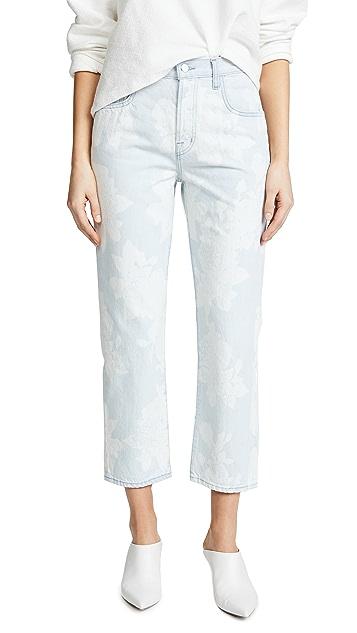 J Brand Wynne Cropped Straight Jeans