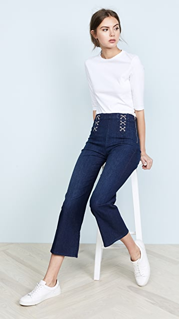 J Brand Laced Joan Crop Jeans
