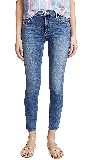 J Brand Укороченные джинсы-скинни Alana с высокой посадкой