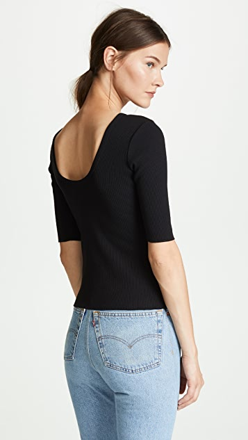 J Brand Soo Scoop Back Top
