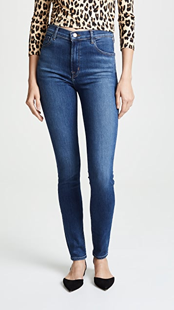 b32db4ef7587 J Brand Carolina Super High Rise Skinny Jeans ...