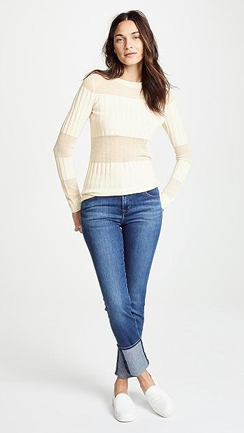 J Brand Andrea Cashmere Silk Slim Sweater