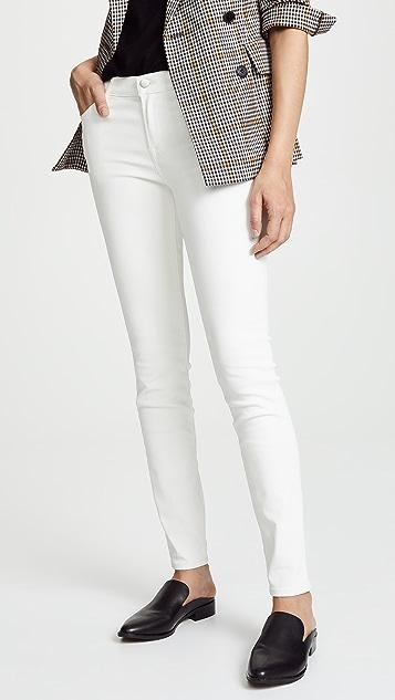 J Brand 620 Mid Rise Coated Skinny Jeans