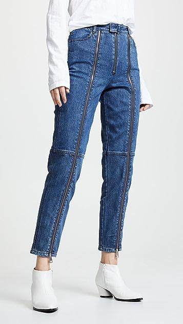 J Brand Connie High Rise Zip Cigarette Jeans